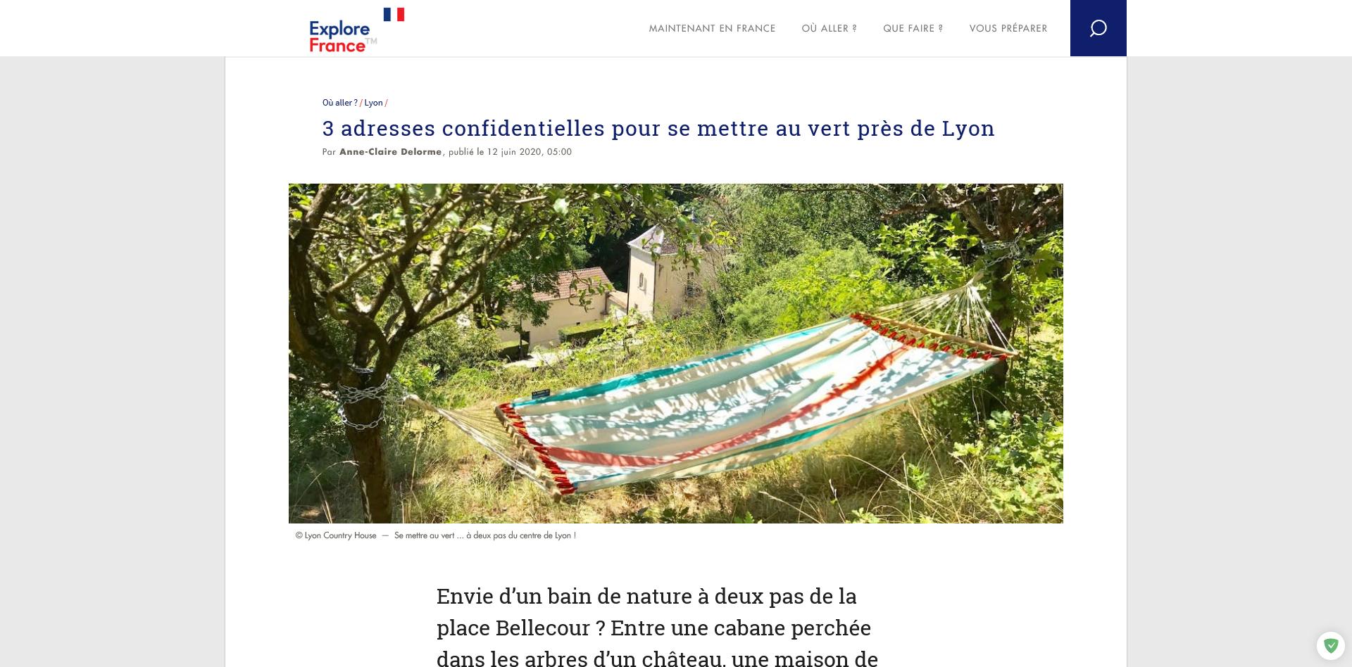 Se mettre au vert à deux pas de Lyon 1
