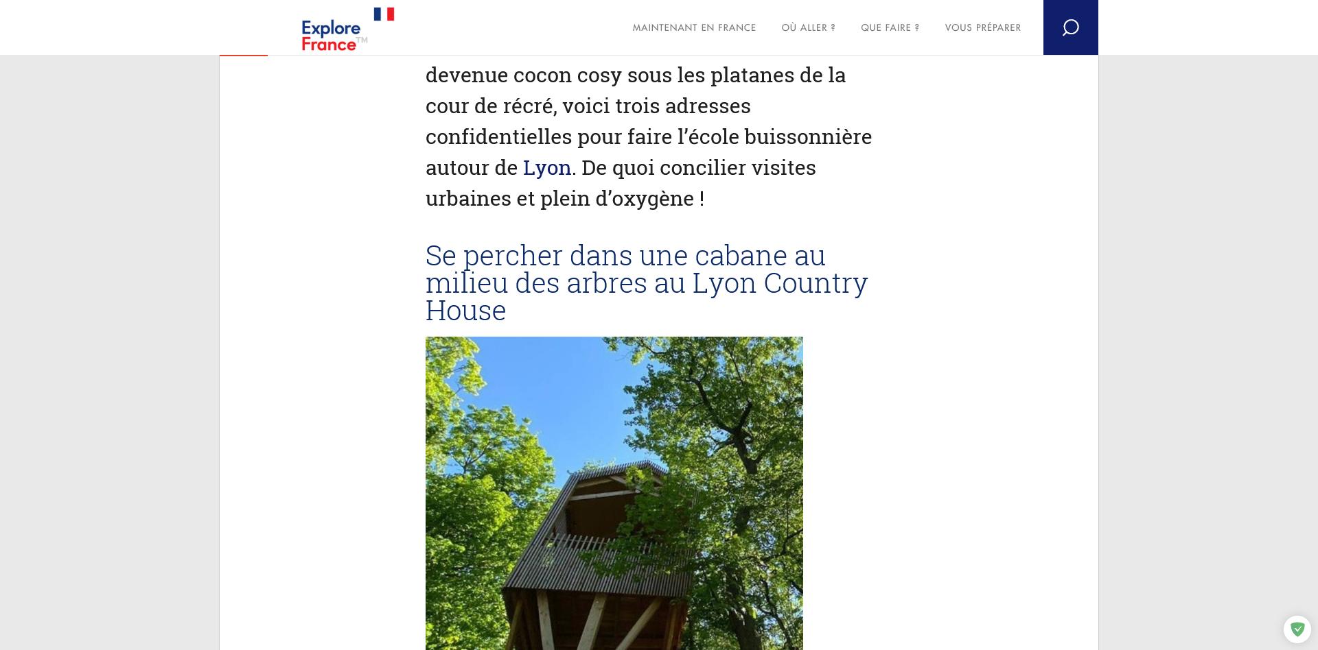 Se mettre au vert à deux pas de Lyon 2